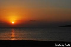 2014年に花徳浜で撮影した初日の出