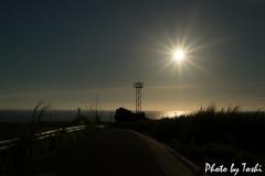 天城町で沈んでいく夕陽