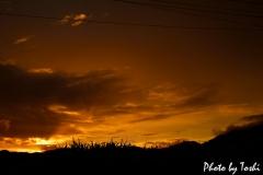 徳之島での夕焼け