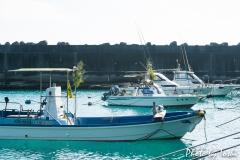 鹿浦漁港にて「漁船の正月飾り」