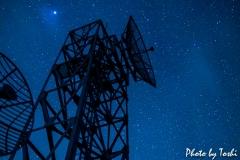 大原のテレビ塔と星空