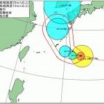 台風12号前の朝焼け