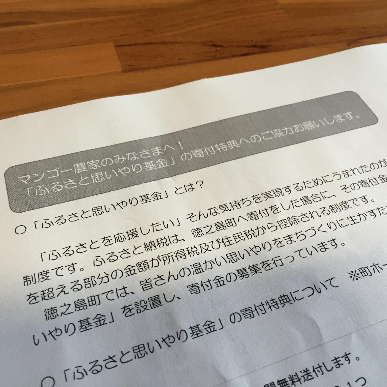 徳之島町の「ふるさと納税」に関する嬉しい知らせがやってきました! | 花徳マンゴー