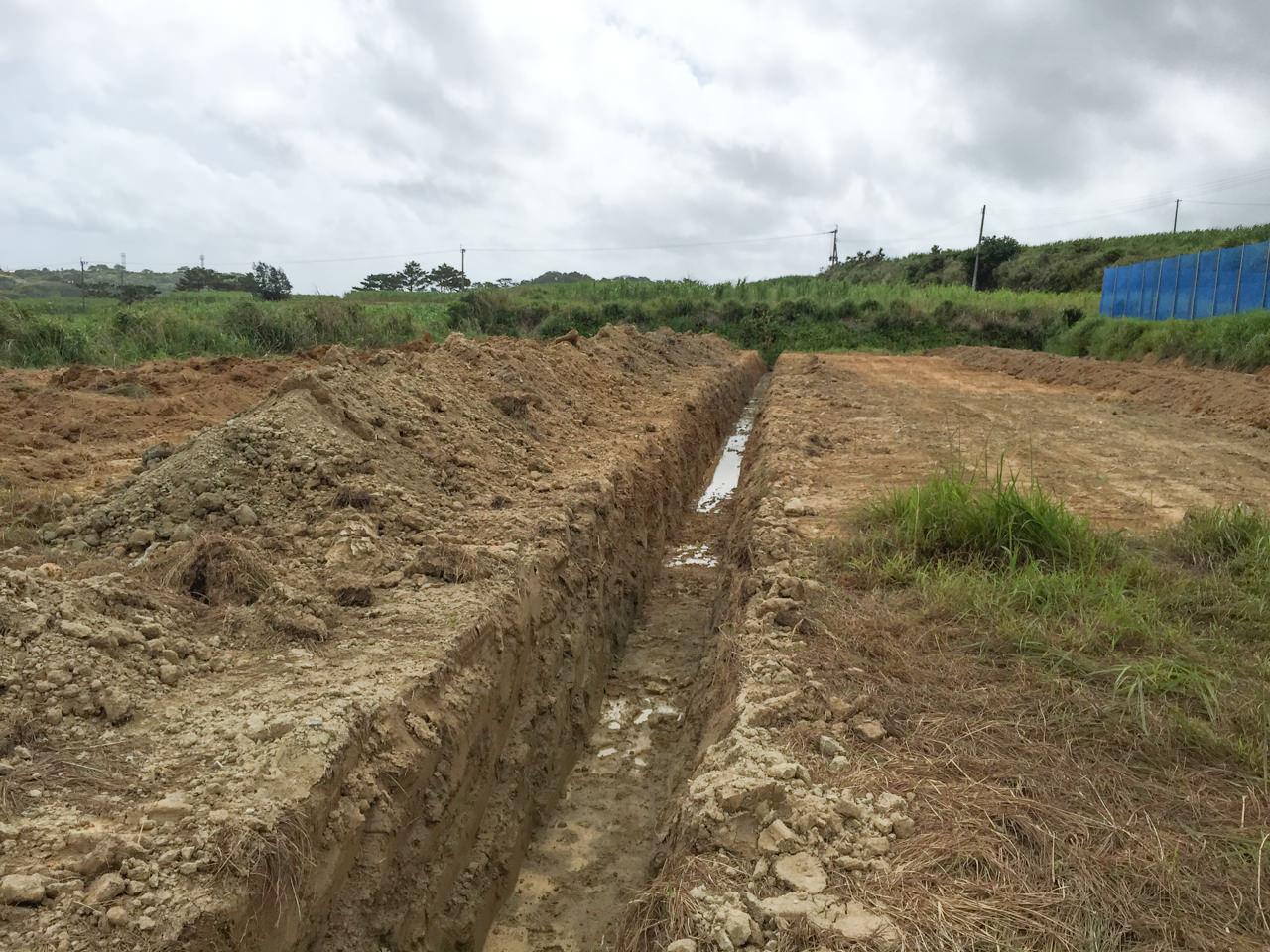 畑の湧水状況-1
