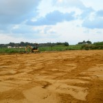 新たな圃場の客土が完了しました。