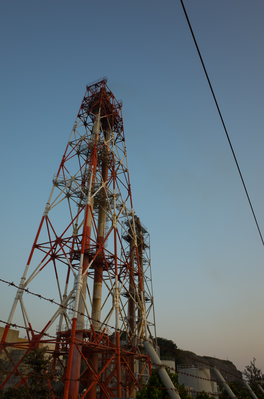 GRⅡで鉄塔を撮影