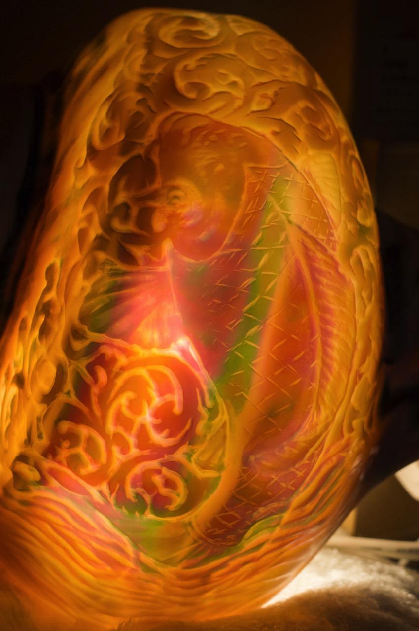 夜光貝アート-鯉-1