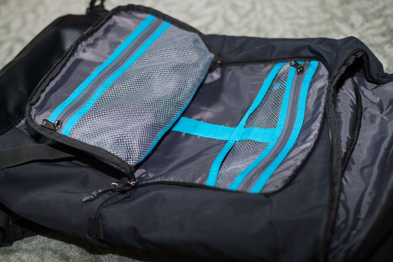 Thule Paromount Backpackの小物収納