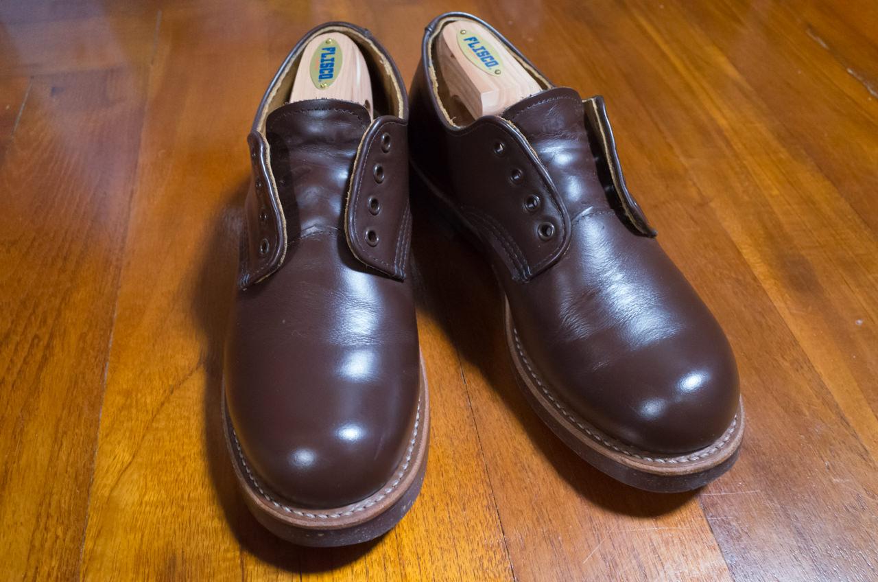 フォアマンの靴紐を外した状態