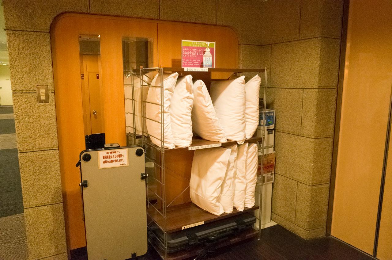 ホテルタイセイアネックスで準備されている枕