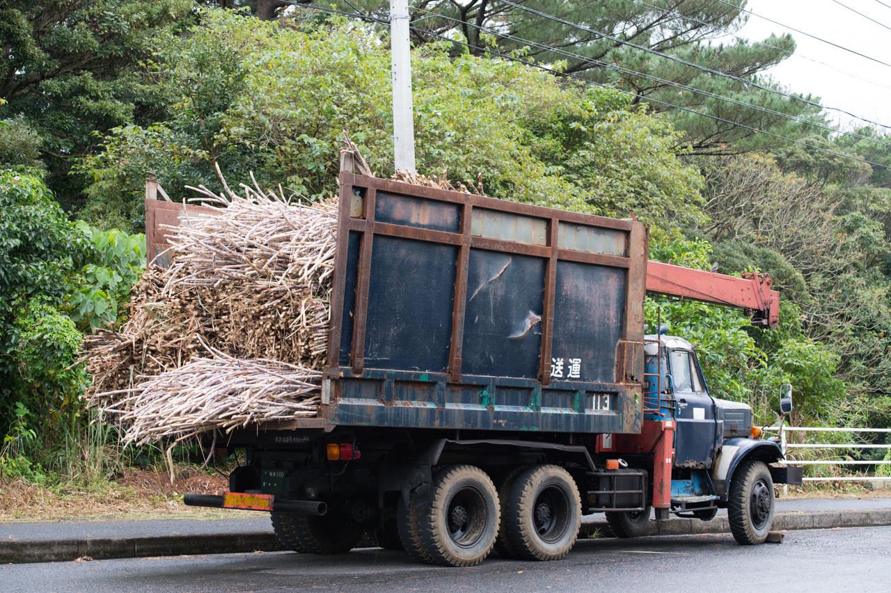 徳之島のキビ運搬車-ボンネットトラック-3