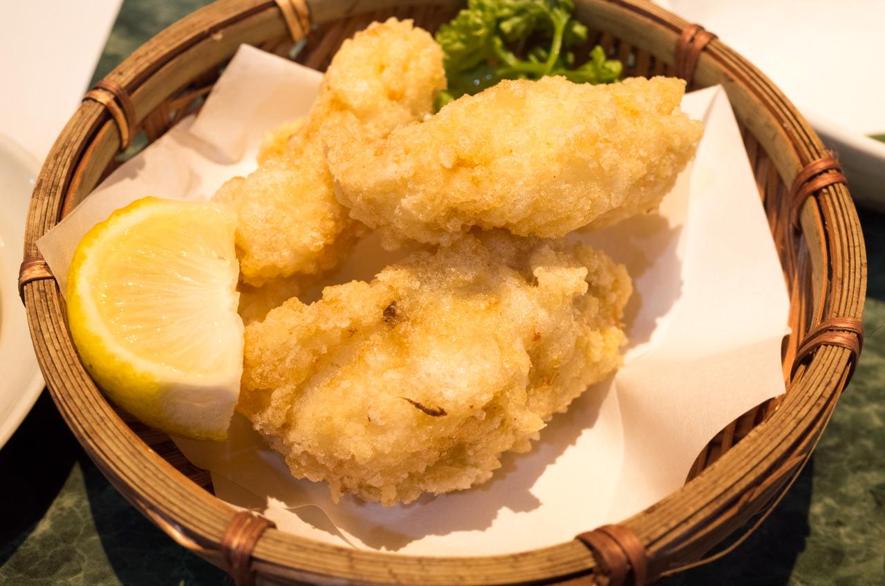魚庄のオコゼの唐揚げ