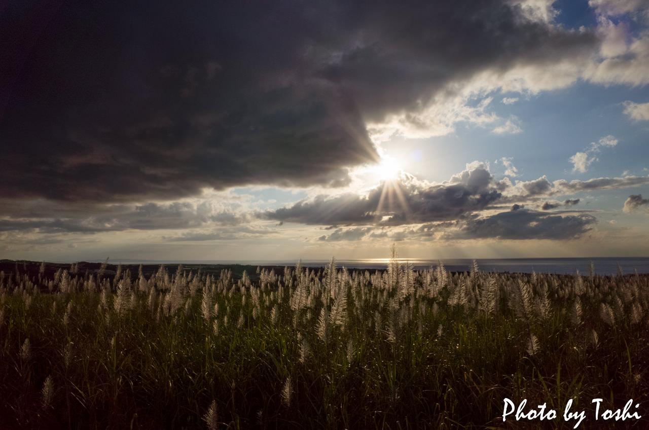 Ricoh GR2で撮影した夕日-1