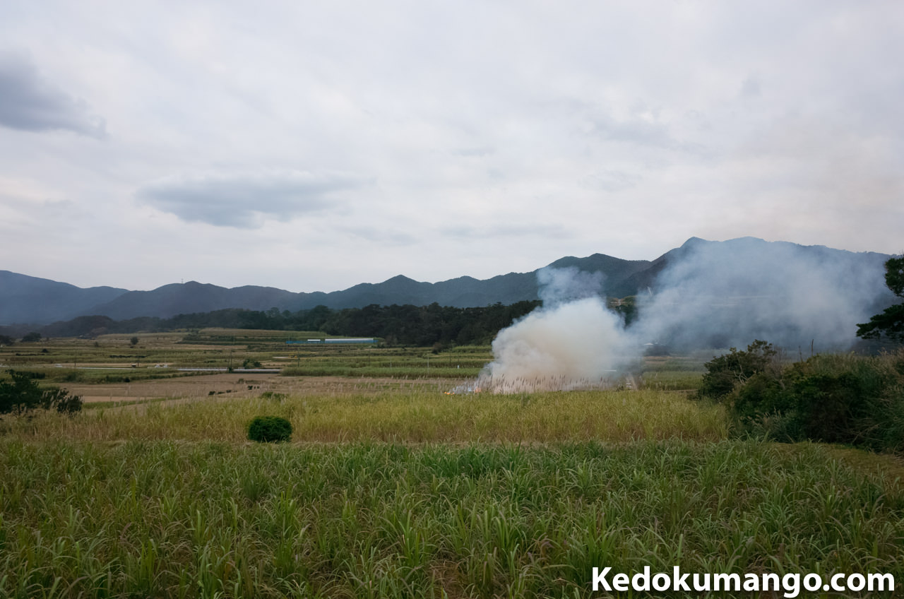 徳之島でのハーマ焼きの様子-4
