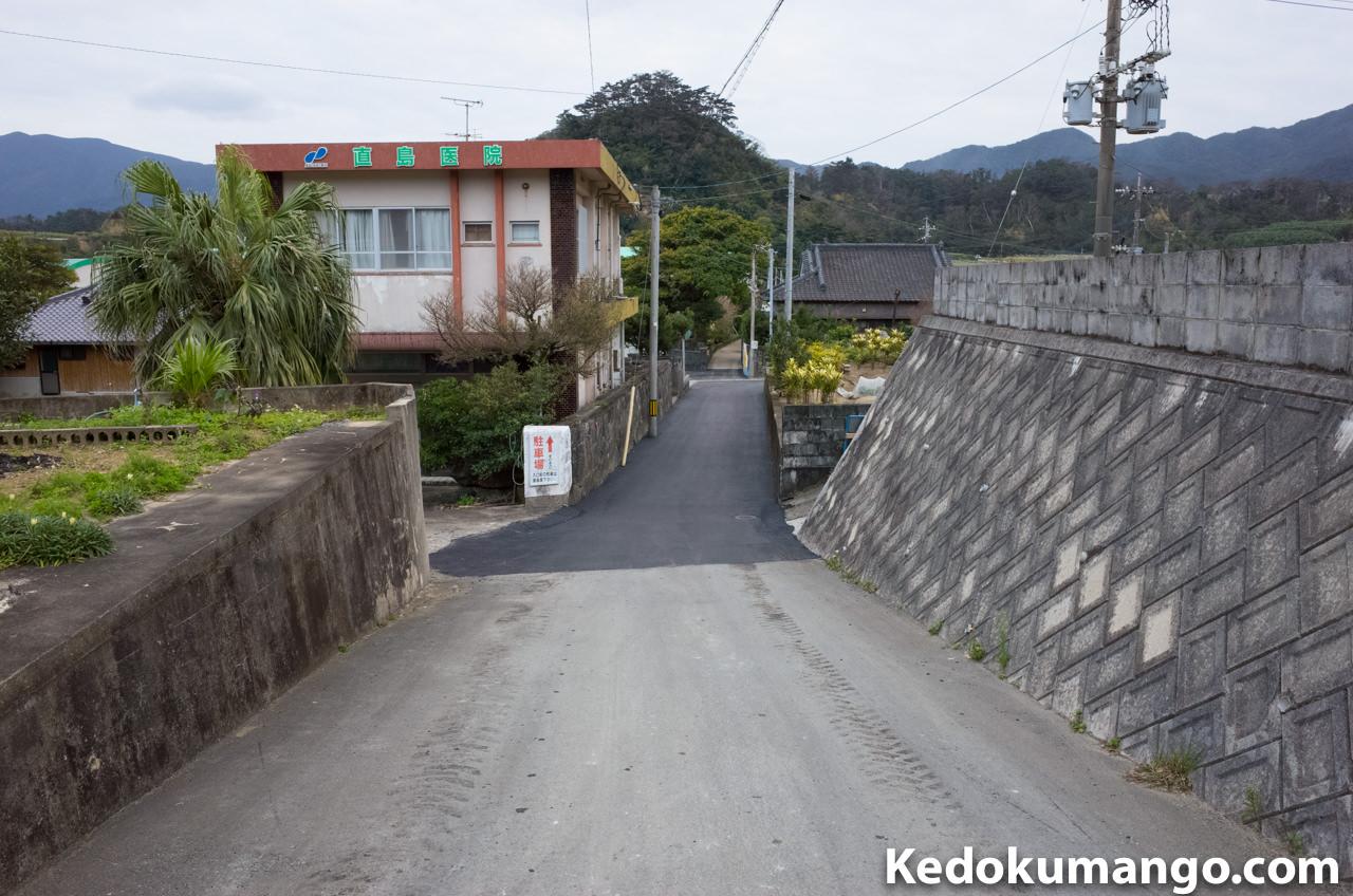 花徳小学校入口の道路