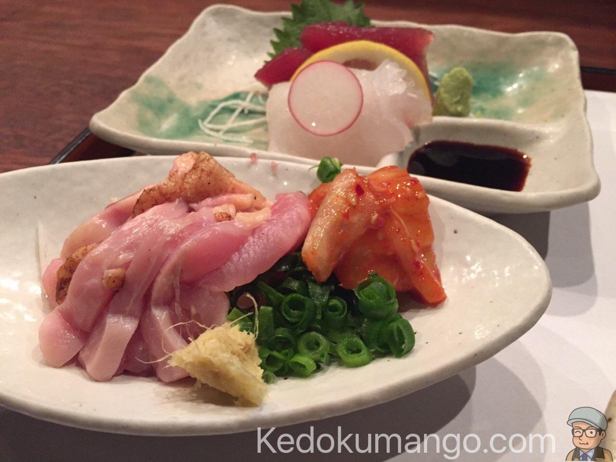 櫻壽の鶏刺し