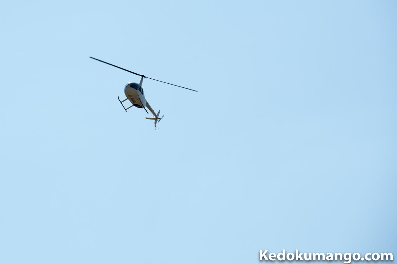 ミカンコミバエ防除作業をするヘリコプター-2