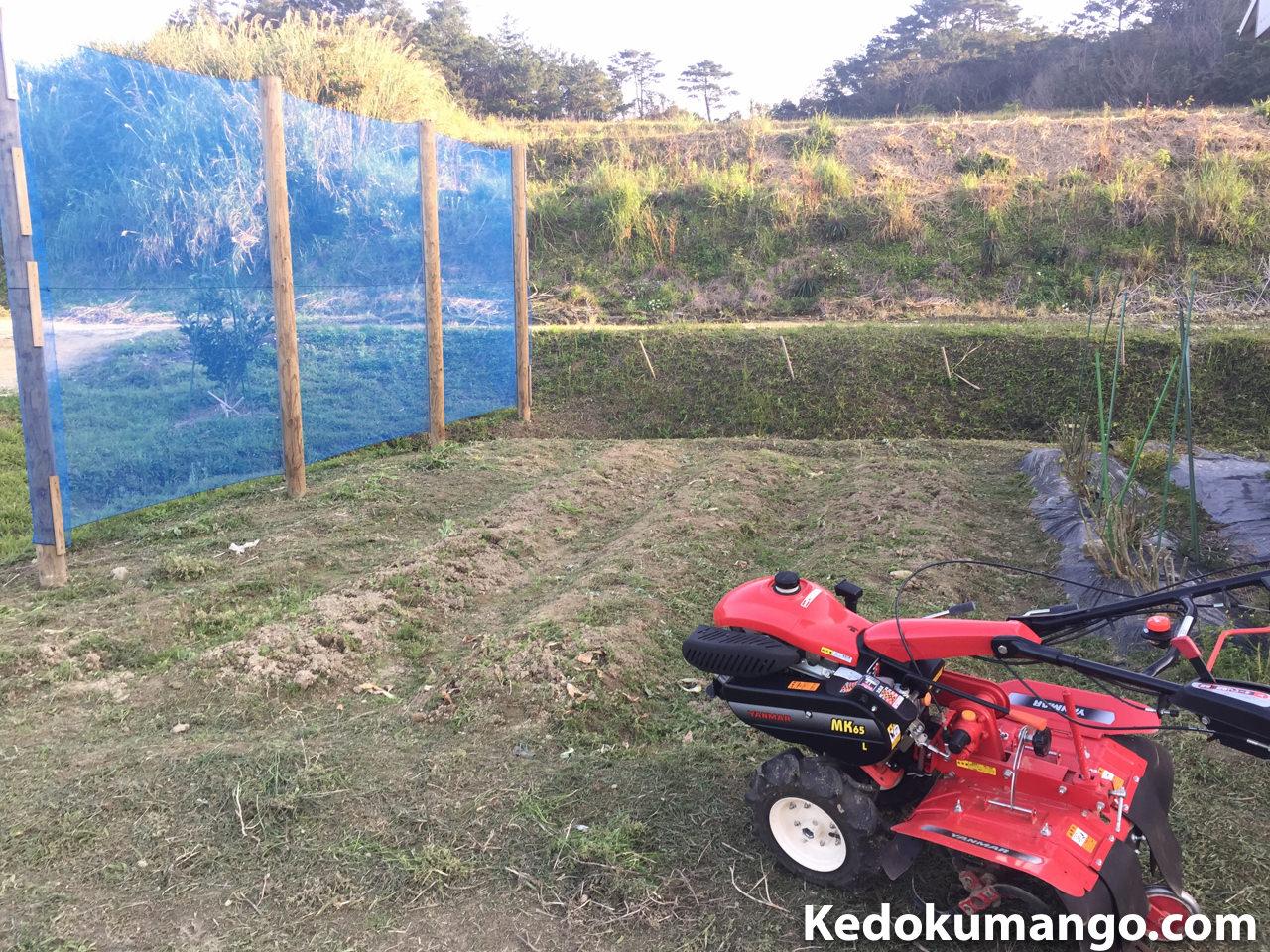 家庭菜園の耕運前の様子