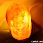 徳之島産「夜光貝のシェルランプ」_「ネコ」の可愛らしさに癒やされます!