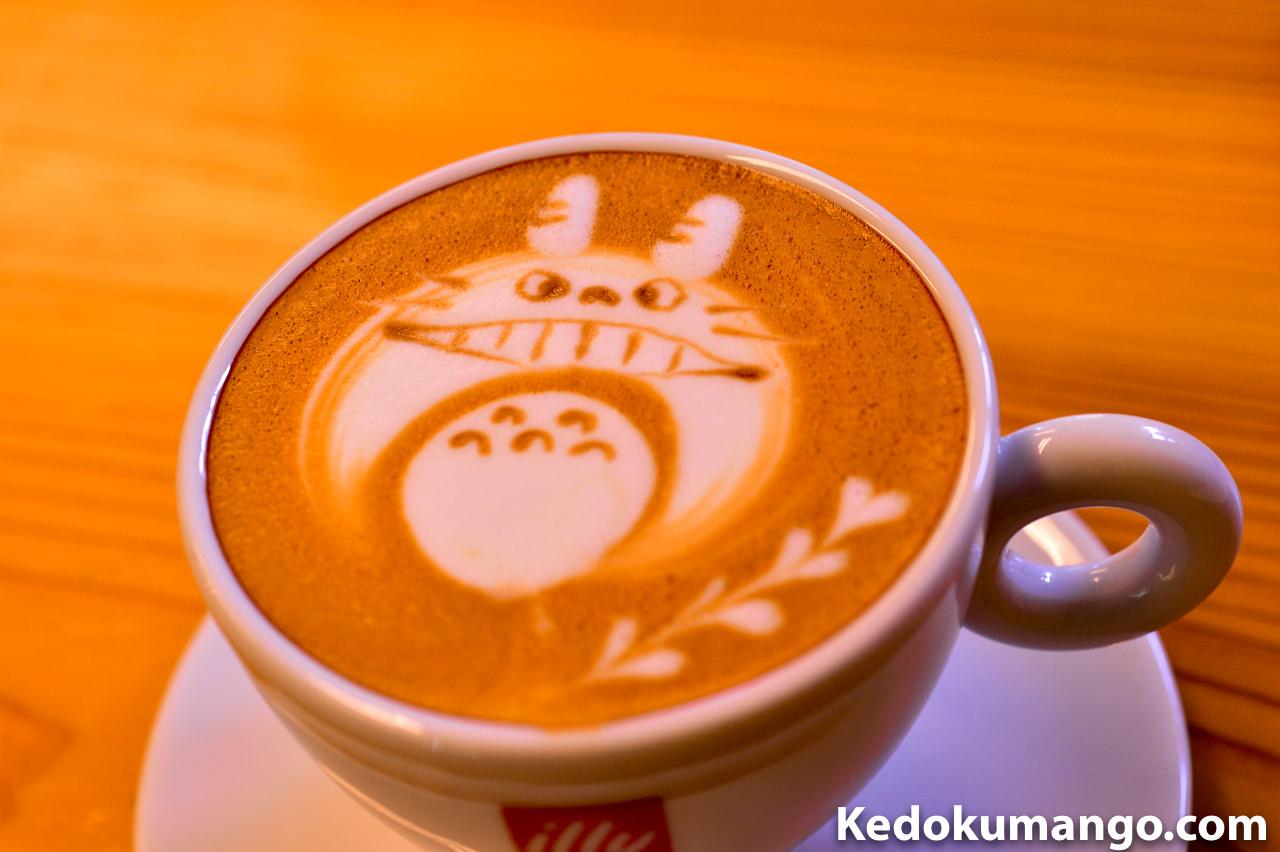 「Rojiura Cafe(路地裏カフェ)」のカフェラテ