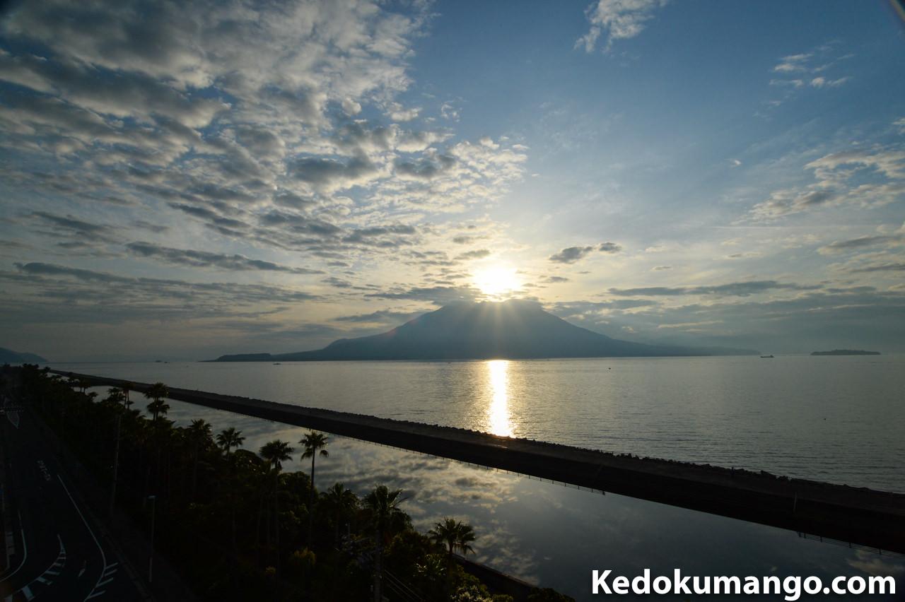「マリンパレスかごしま」から撮影した桜島-2