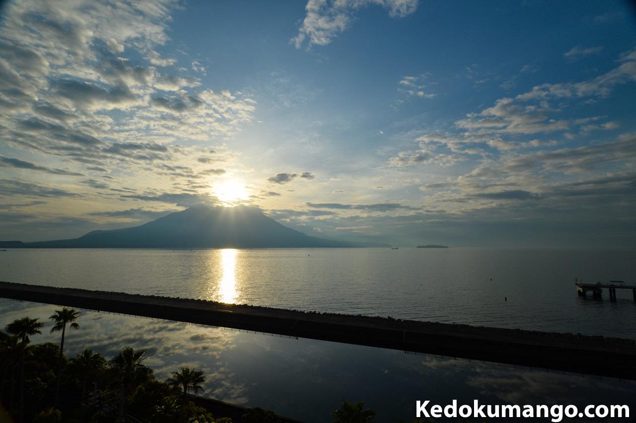 「マリンパレスかごしま」から撮影した桜島-1