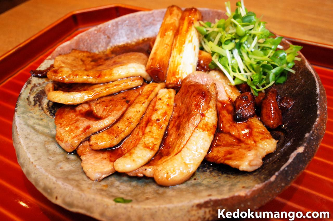 鹿児島市の美味しい蕎麦屋「天神房丸新」の「鴨焼き」