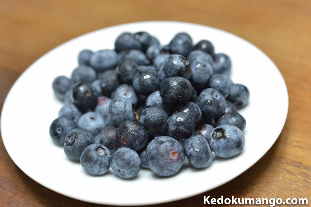 徳之島で育てる「ブルーベリー」の果実