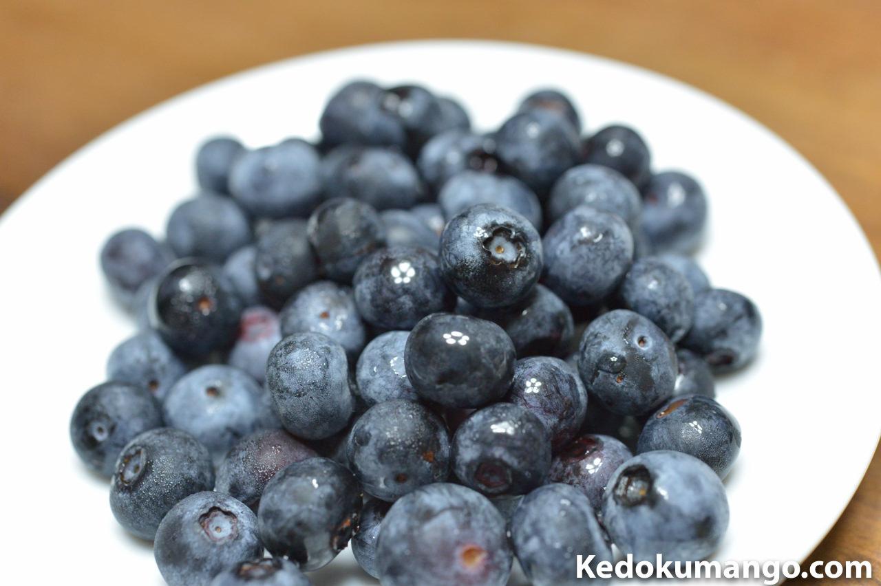 徳之島で栽培した「ブルーベリー」の果実