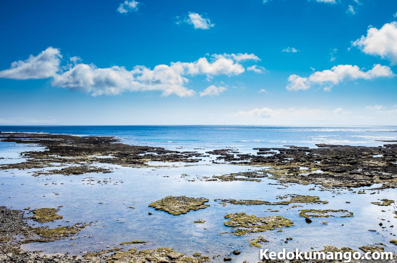 徳之島の井之川地区の海岸線
