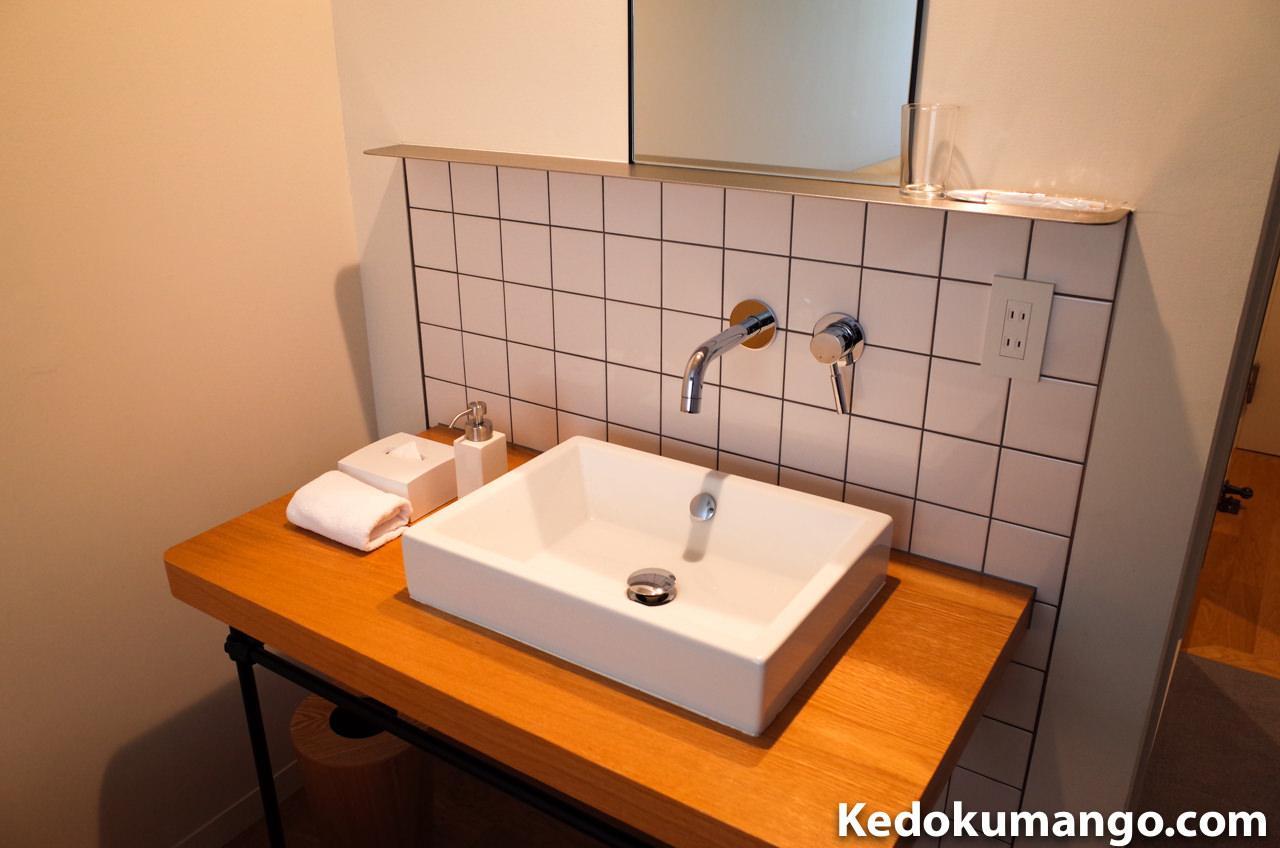 530号室の洗面台