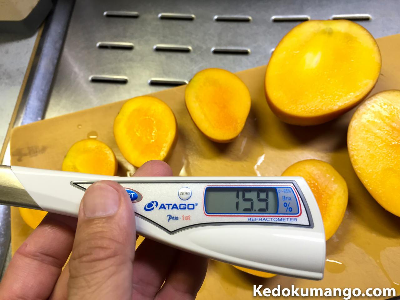 マンゴーの糖度