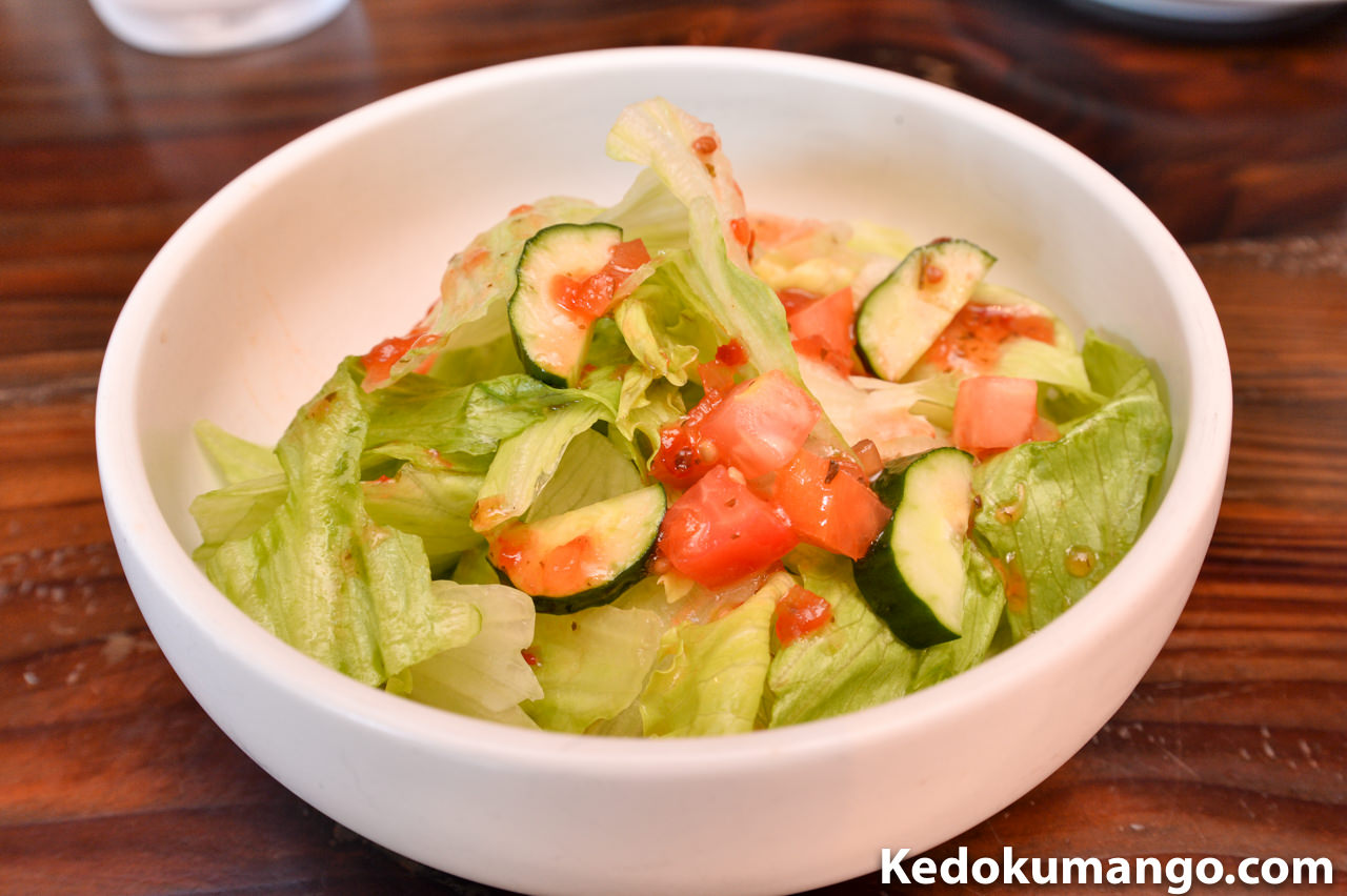月桃庵のサラダ