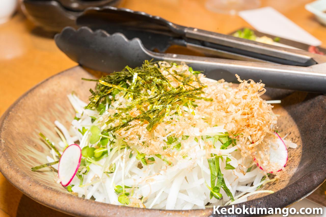 「鶏膳」の大根サラダ