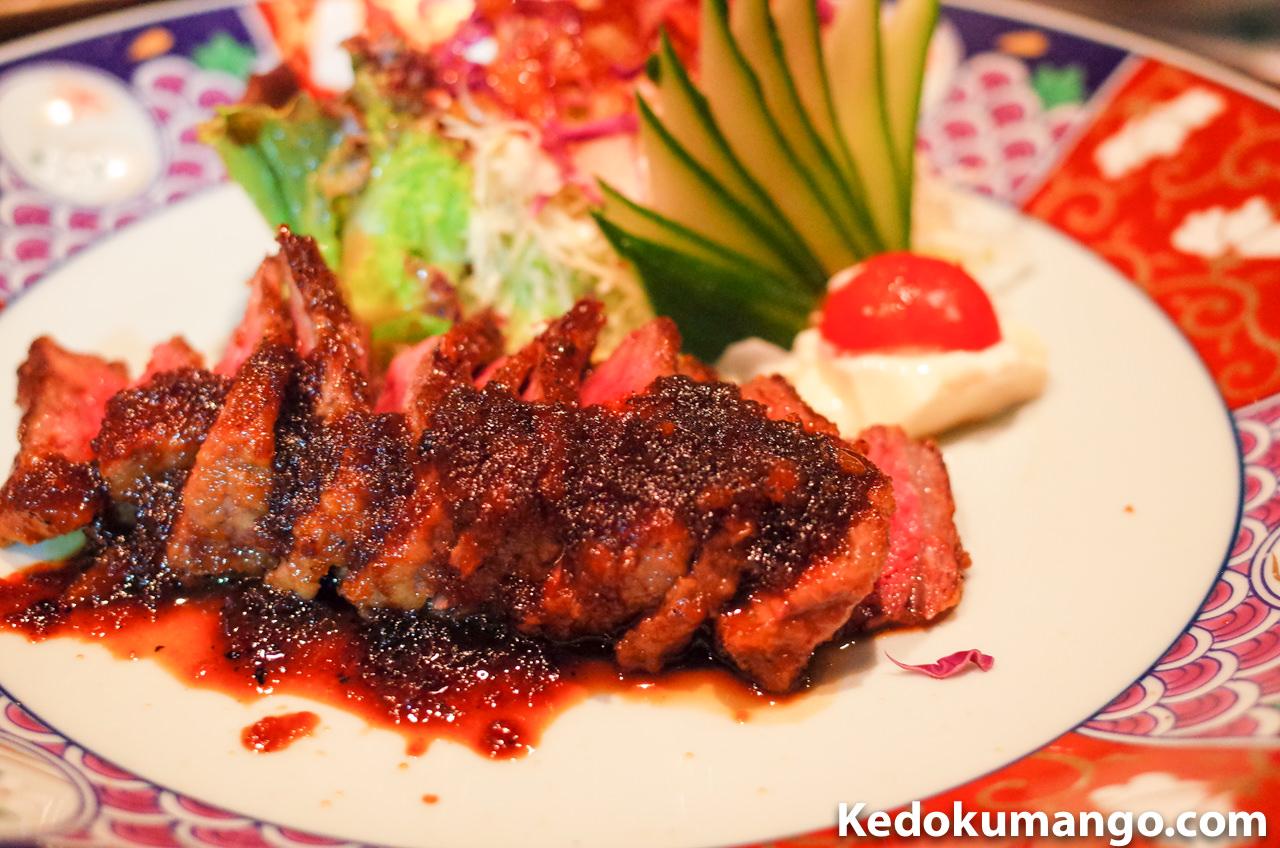 「櫻壽(おうじゅ)」のステーキ