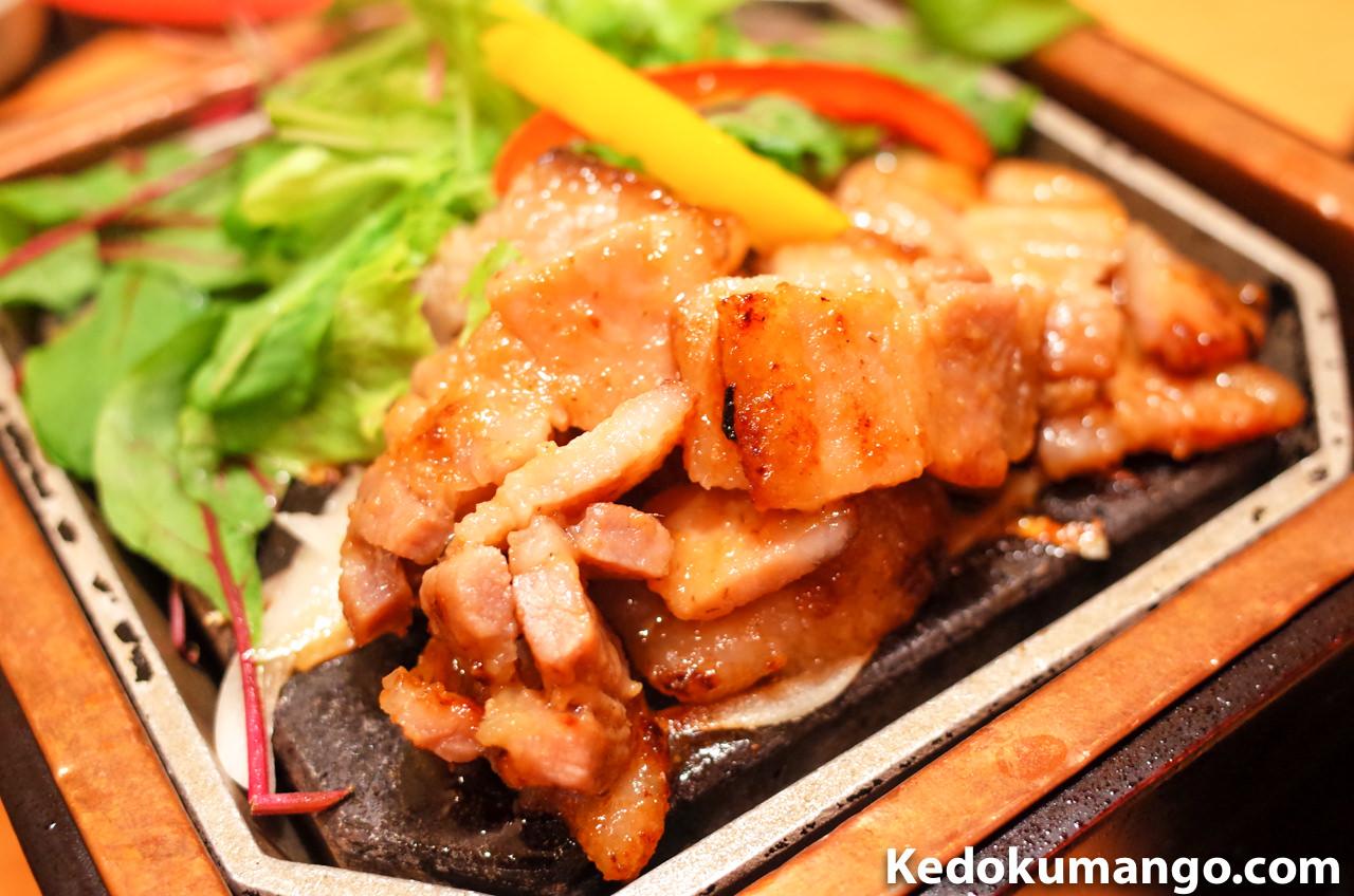 寿庵の黒豚味噌焼き