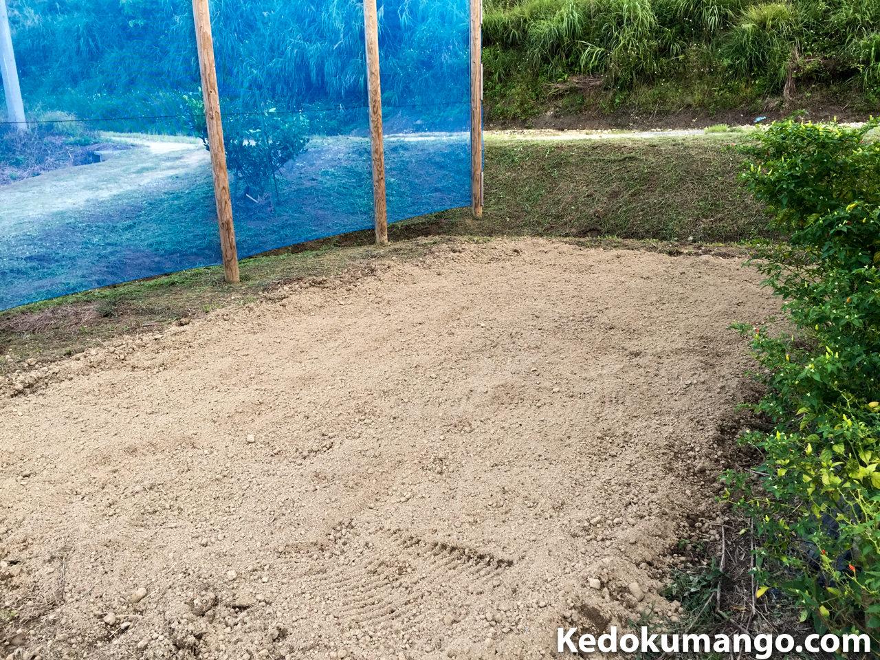 畑の表土を整地したところ