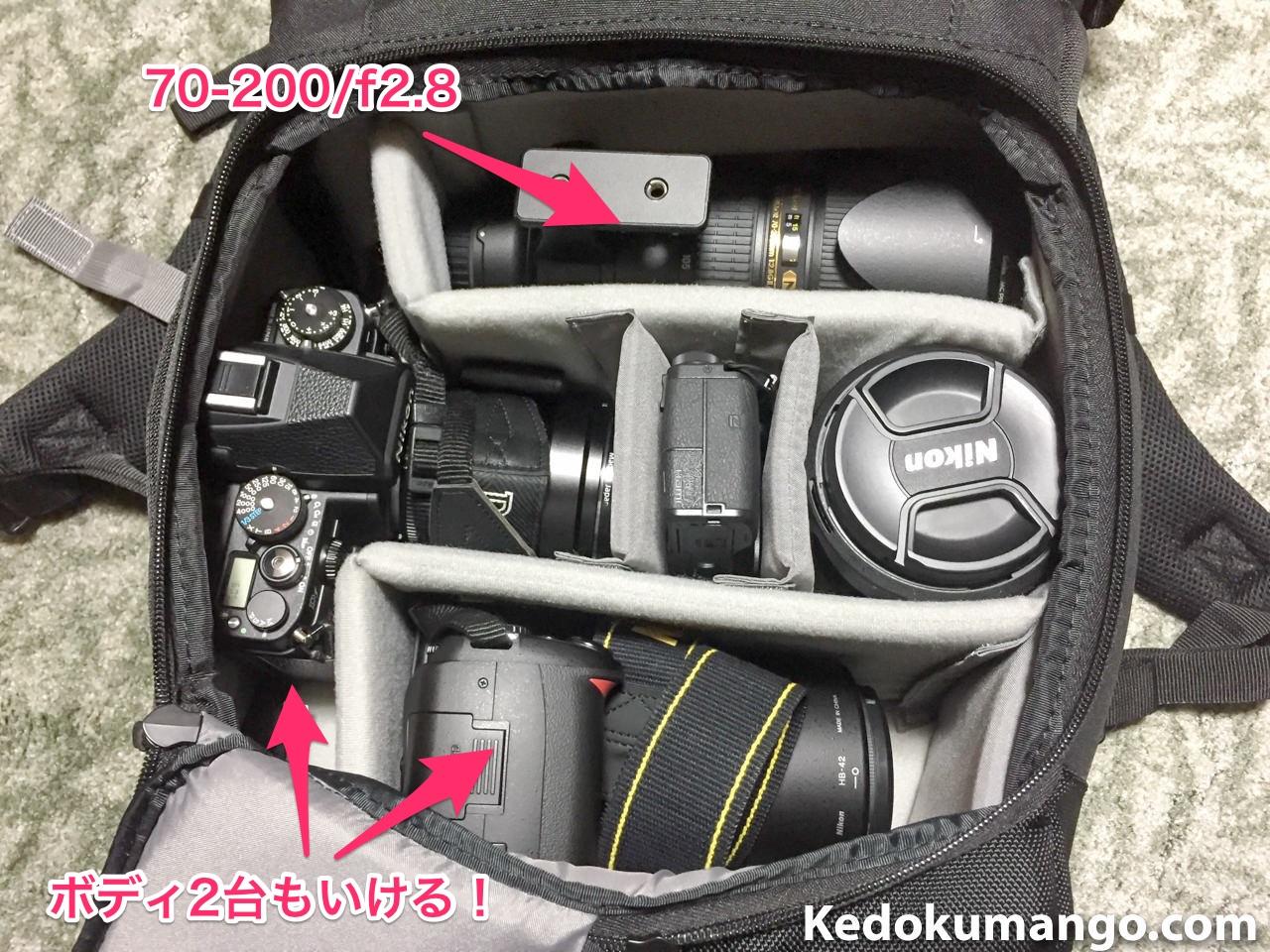 カメラボディ2台体制もいける!