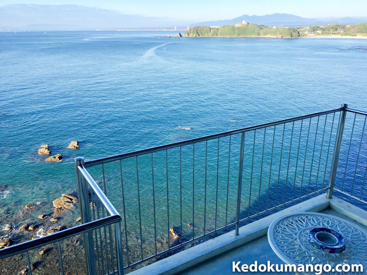 大黒リゾートホテルの客室から眺める海