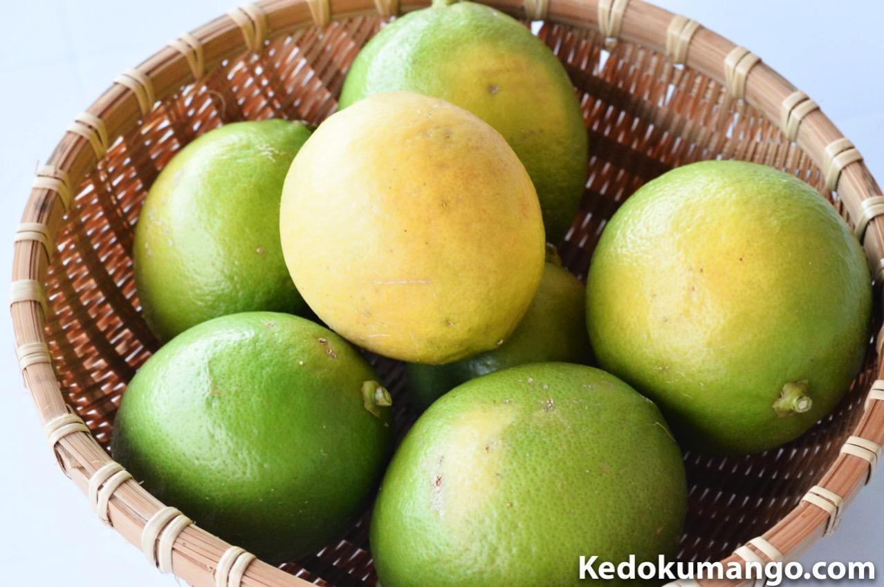 収穫直後のレモン