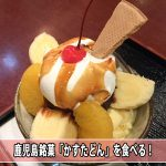 【鹿児島銘菓】お土産にもおすすめな薩摩蒸気屋の[かすたどん]を使ったパフェが最高に美味かったよ!