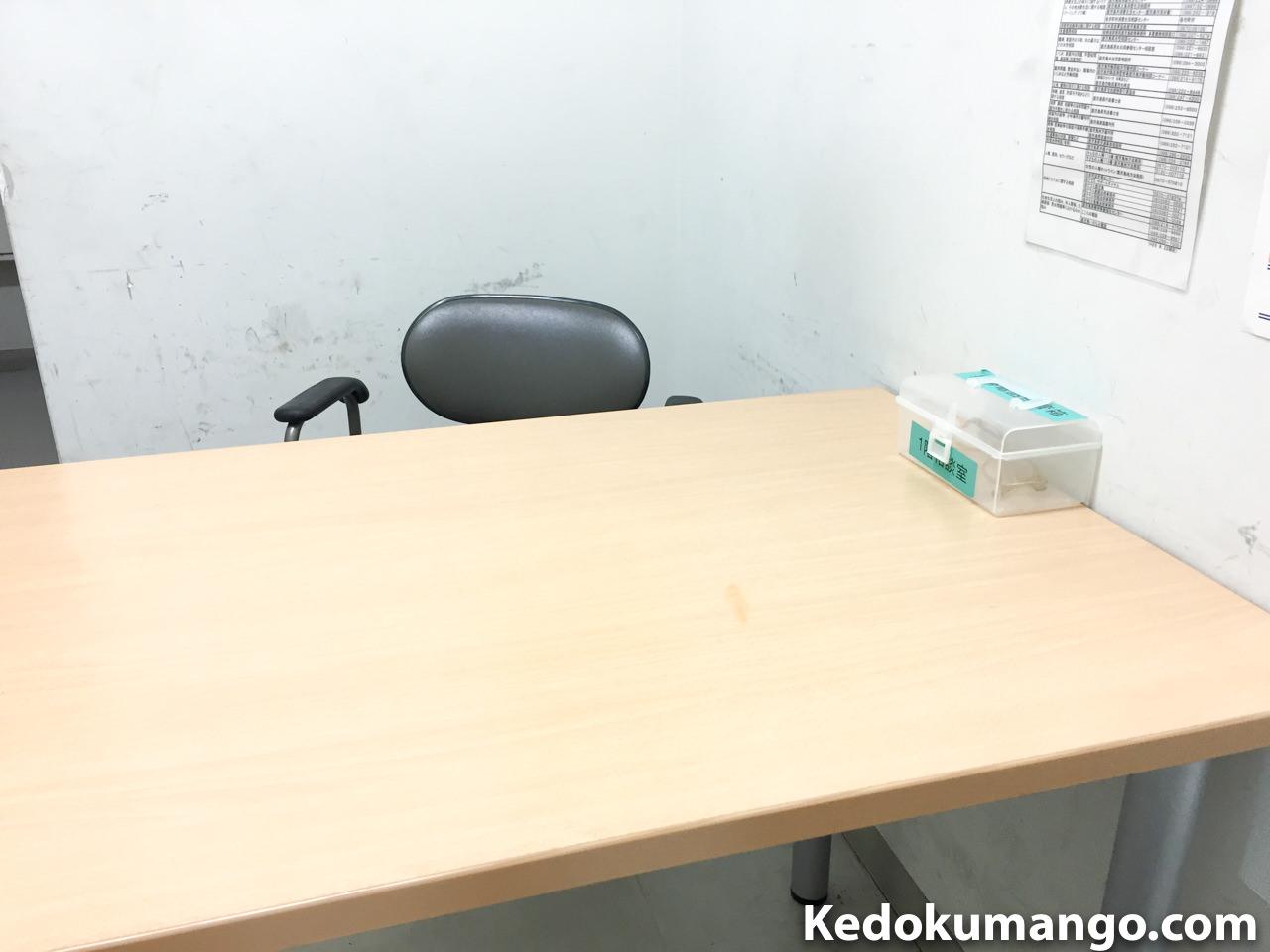 警察署の相談室