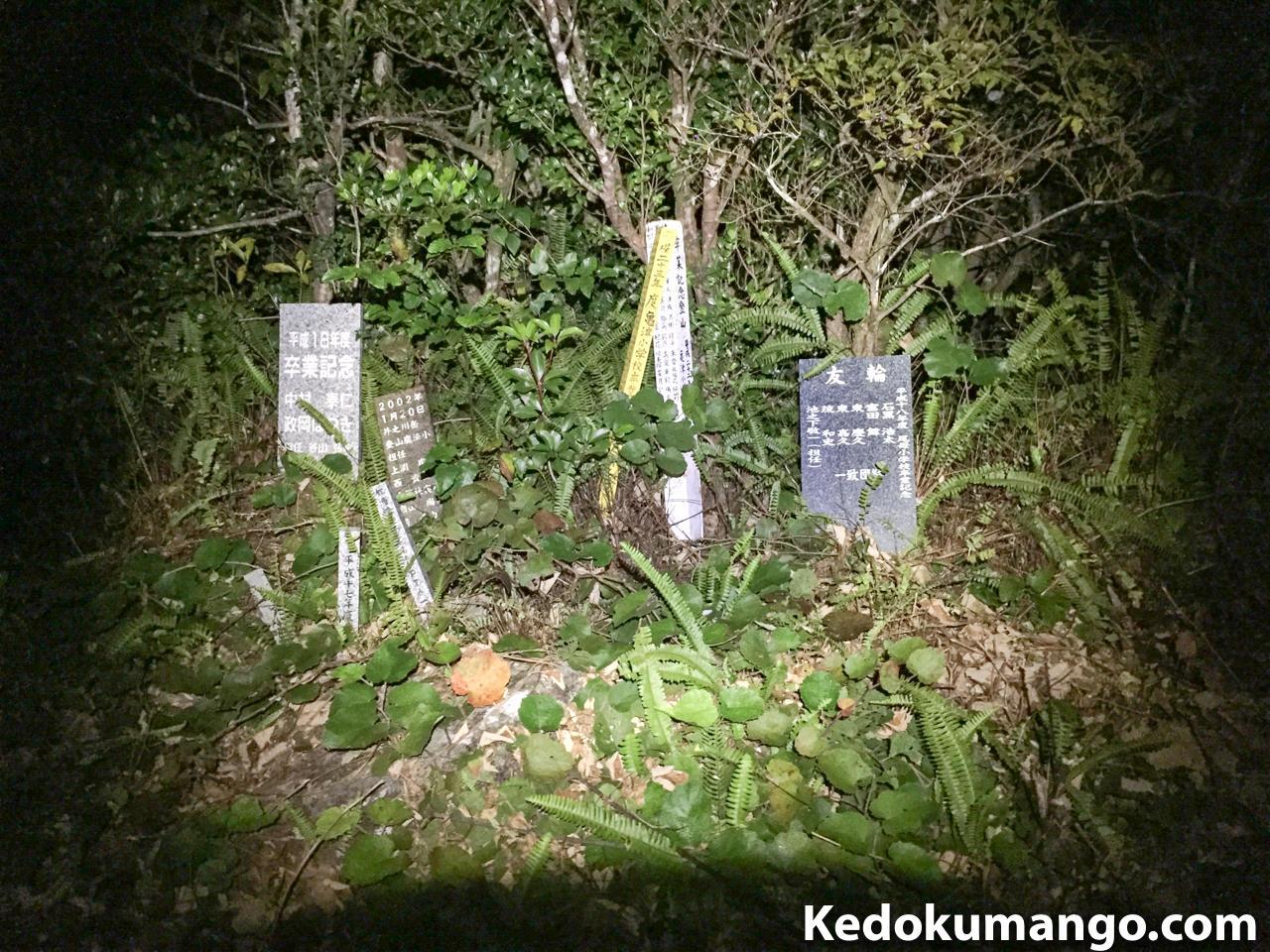 登山記念の石碑