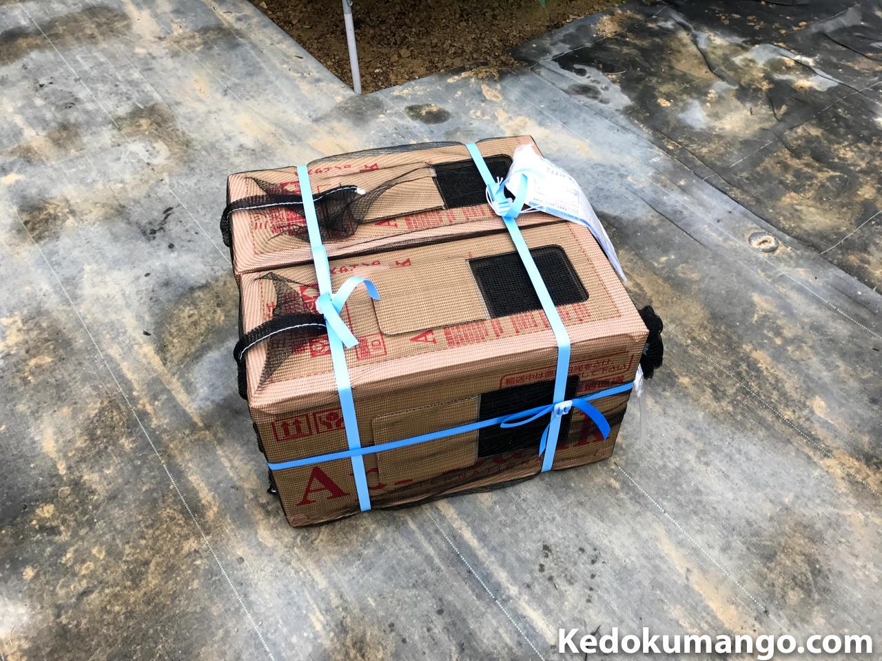 ミツバチの巣箱の荷姿