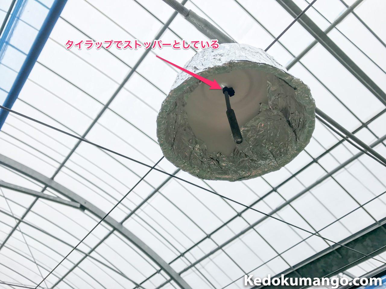 日傘の固定方法