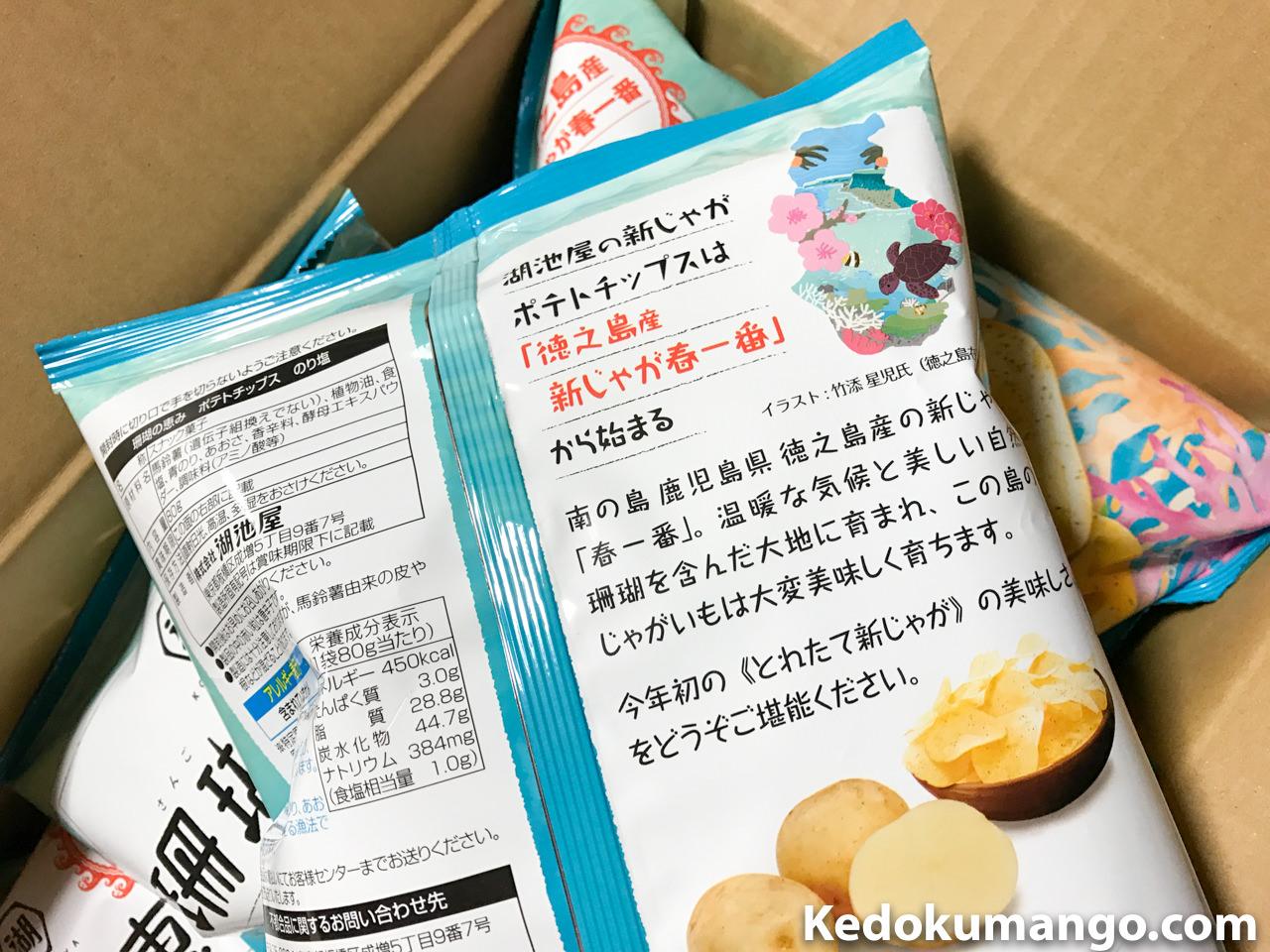 徳之島のイラストのプリントされたパッケージ