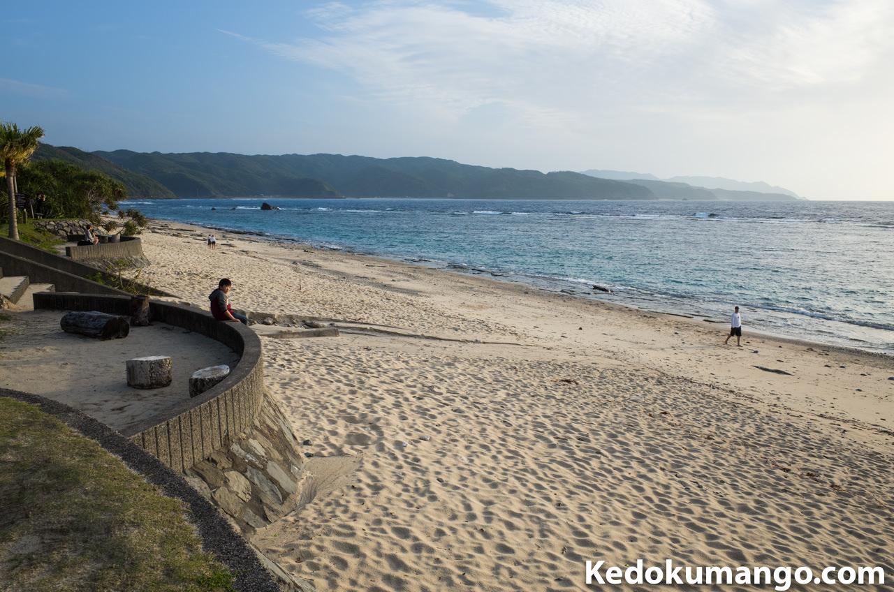 大浜海岸での夕日待ち