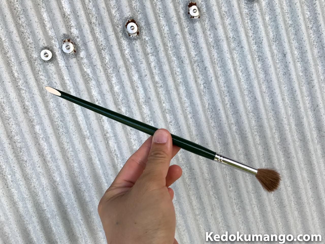 人工受粉に使用している筆