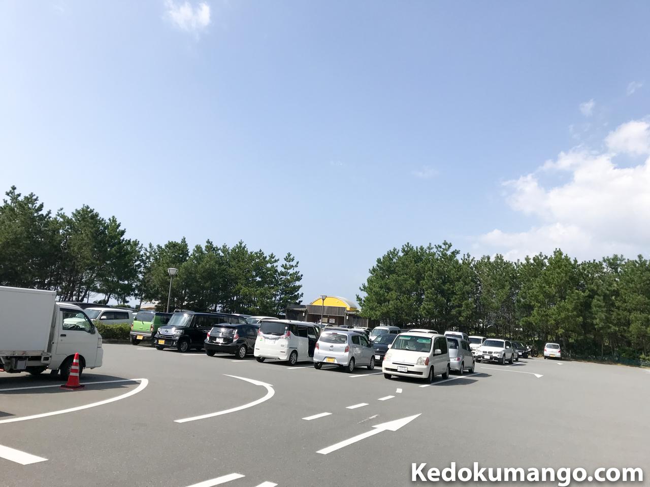 江口蓬莱館の駐車場の様子