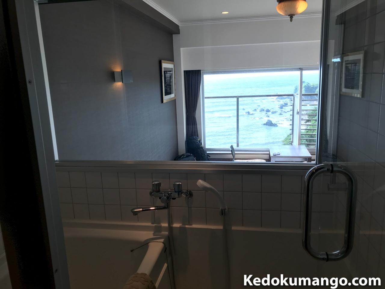 内風呂から見える外の風景